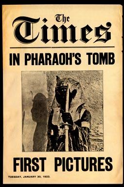 """Реклама о том, что """"The Times"""" побывали в гробнице Тутанхамона. Опубликовано 30 января 1923 года. Таймс имели эксклюзивное право на освещение событий о ходе раскопок согласно контракту с Карнарвоном от 9 января 1923 года."""